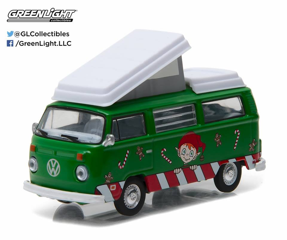 GreenLight 1:64 GreenLight 2016 Holiday Collection - Volkswagen Type2 Campmobile (Green) #51077-A