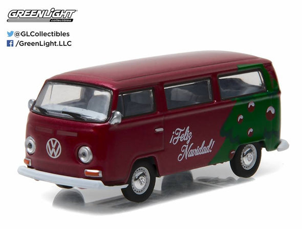 GreenLight 1/64 GreenLight 2016 Holiday Collection - Volkswagen Type2 Bus (Chrismas Tree Red) #51077-D