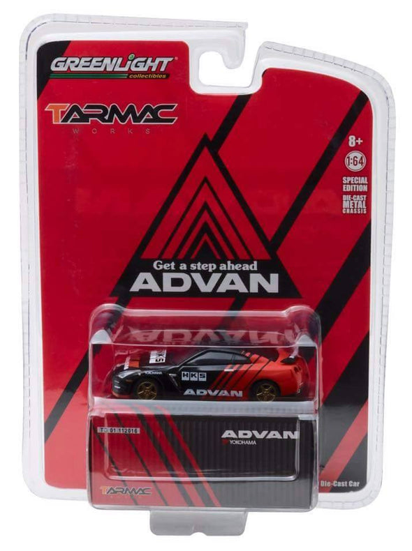 Tarmac Works x GreenLight 1/64 2015 Nissan GT-R (R35) Yokohama ADVAN - TG51084