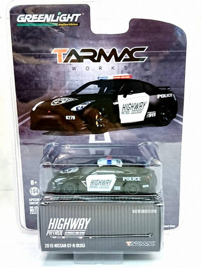 Tarmac Works x GreenLight 1:64 scale Nissan GT-R Police Version - TG51092