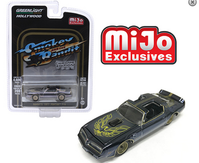 GreenLight 1/64 Mijo Exclusive - Smokey & Bandit 1977 Pontiac Trans Am Chrome Edition - 51223