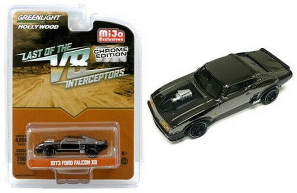 GreenLight 1/64 Mijo Exclusive -  Last of V8 Interceptors 1973 Ford Falcon XB Chrome Edition - 51229