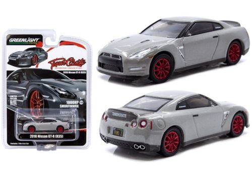 Tuner Crate x Greenlight 1/64 2016 Nissan GTR R-35 1000hp Smurfinwrx, grey