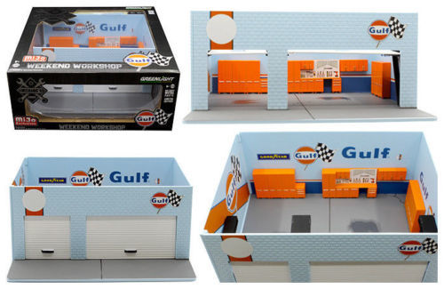 GreenLight 1/64 Mijo Exclusive Mechanic's Weekend Workshop GULF Solid Pack - #51161