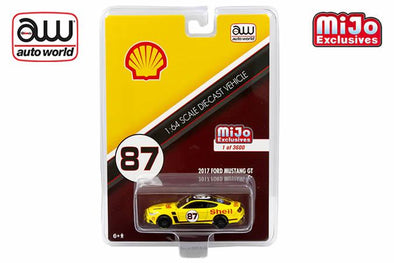 *Limit to TWO per person* Auto World x Mijo 1/64 2017 Ford Mustang GT *Shell*, yellow/red