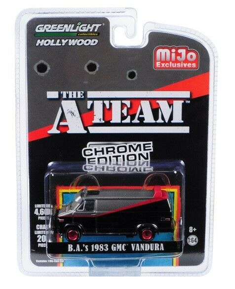 GreenLight 1/64 Mijo Exclusive  - The A-Team (1983-87 TV Series) - 1983 GMC Vandura Chrome Edition - 51225