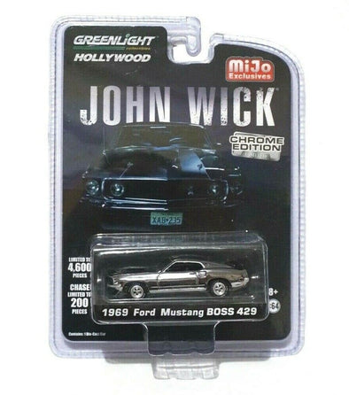 GreenLight 1/64 Mijo Exclusive - John Wick (2014) - 1969 Ford Mustang BOSS 429 Chrome Edition - 51228