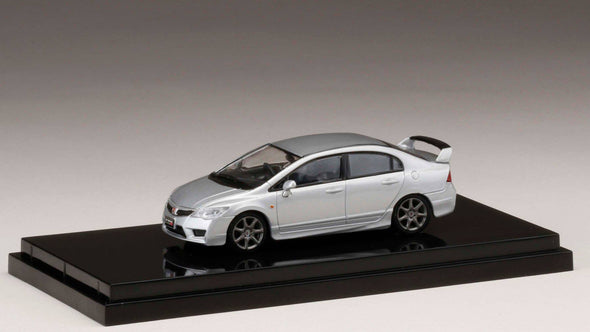 Hobby Japan 1/64 Honda  CIVIC TYPE R (FD2)  Super Platinium Metallic -  HJ641003AS