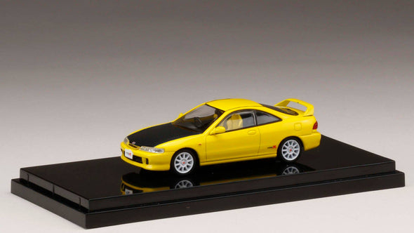Hobby Japan 1/64 Honda  Integra Type R (DC2) Customized Ver. Sunlight Yellow (HONG KONG Limited Edition ) - HJ641004BCY