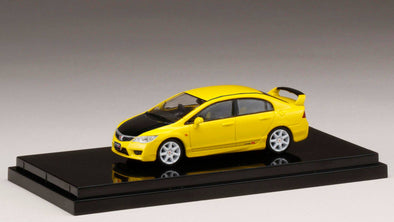 Hobby Japan 1/64 Honda  CIVIC TYPE R (FD2) Sunlight Yellow Customized Ver. (HONG KONG Limited Edition) - HJ641003ACY