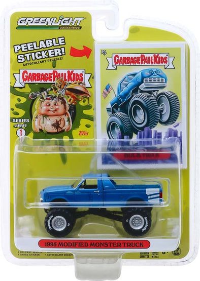 GreenLight 1/64 Garbage Pail Kids Series 1 - Buck Truck - 1995 Modified Monster Truck Solid Pack #54010-C