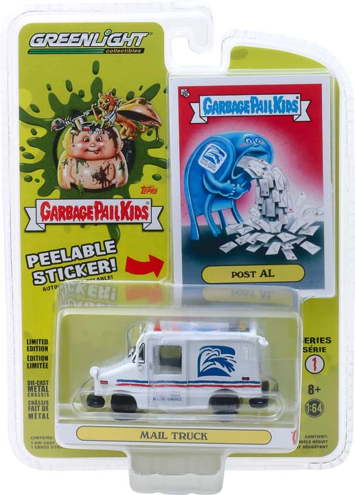 GreenLight 1/64 Garbage Pail Kids Series 1 - Post Al - Mail Truck Solid Pack #54010-E
