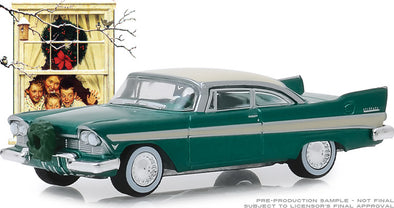 GreenLight 1/64 Norman Rockwell Series 2 - 1957 Plymouth Belvedere with Wreath Accessory Solid Pack #54020-D