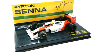 Minichamps 1/43 MCLAREN HONDA MP4/4 - AYRTON SENNA - WINNER BRITISH GP 1988 - 547884412
