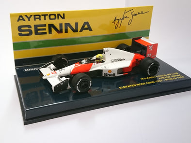 Minichamps 1/43 MCLAREN HONDA MP4/5B ELEVATED NOSE CONE TEST CAR – AYRTON SENNA – MONZA 1990