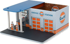 GreenLight 1/64 Mechanic's Corner Series 1 - Vintage Gas Station Gulf Oil Solid Pack - #57012