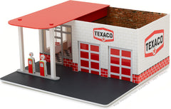 GreenLight 1/64 Mechanic's Corner Series 1 - Vintage Gas Station Texaco Oil Solid Pack - #57013