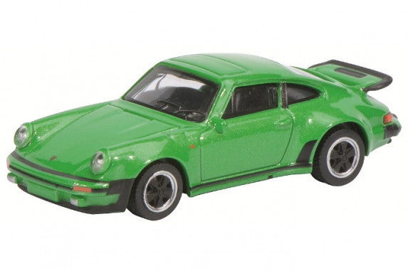 Schuco 1/64 Porsche 911 Turbo 3.0, green-metallic #452010000