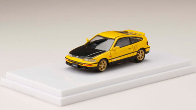 Hobby Japan 1/64  HondaCR-X SiR (EF8) Customized Ver. Yellow - HJ641005CRY