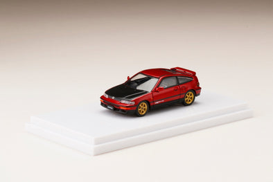 Hobby Japan 1/64  HondaCR-X SiR (EF8) Customized Ver. Red Pearl - HJ641005CRR