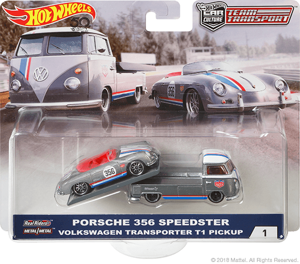Hot Wheels Car Culture Team Transport Porsche 356 Speedster/Volkswagen Transporter T1 Pickup