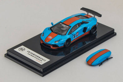 JEC 1/64 LB Aventador 1.0 - Gulf with Roof Case J64-001-GF