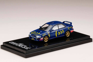 Hobby Japan 1/64 WRX (GC8C) STi Ver. Ⅱ  Sports Blue with Decal - HJ641013DSBL