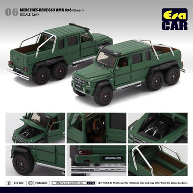 ERA CAR 06 1/64 Mercedes-Benz G63 AMG 6x6 Green