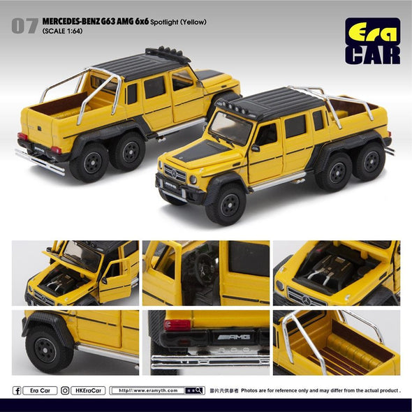 ERA CAR 07 1/64 Mercedes-Benz G63 AMG 6x6 Spotlight (Yellow)