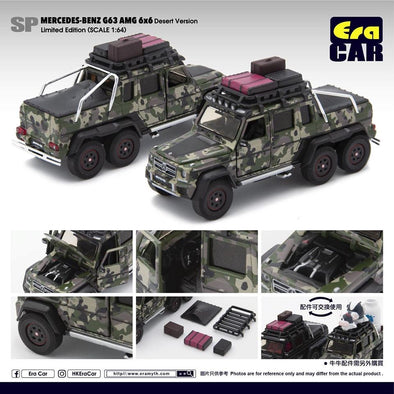 ERA CAR 1/64 Mercedes-Benz G63 AMG 6x6 Desert Version (LIMITED  EDITION)
