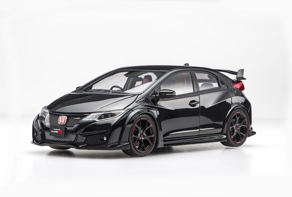 Ebbro 1/18 Honda CIVIC TYPE R 2015 (Japanese License Plate) - Crystal Black Pearl #81067
