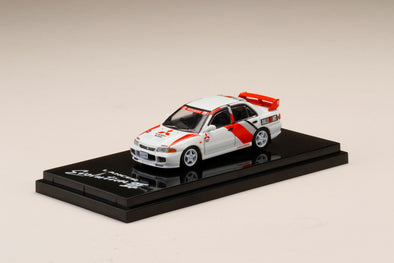 Hobby Japan 1/64 Mitsubishi LANCER GSR Evolution III (CE9A) Scortia White with RALLY DECAL- HJ641010DW