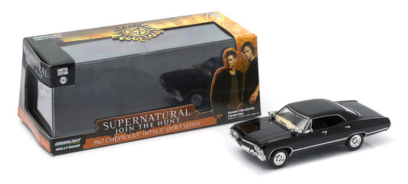 GreenLight 1/43 Hollywood Series 4 - Supernatural (TV Series 2005-) - 1967 Chevrolet Impala Sport Sedan #86441