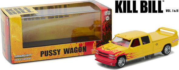 "GreenLight 1/43 Hollywood - Kill Bill: Vol. 1 (2003) - 1997 Custom Crew Cab ""Pussy Wagon"" #86481"