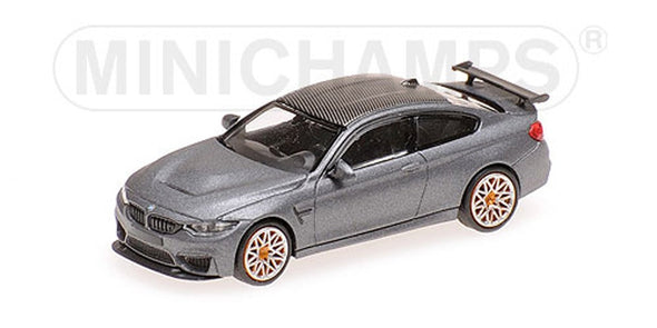 Minichamps 1/87 BMW M4 GTS (2016) Matt Gray / Orange Wheel #870027100