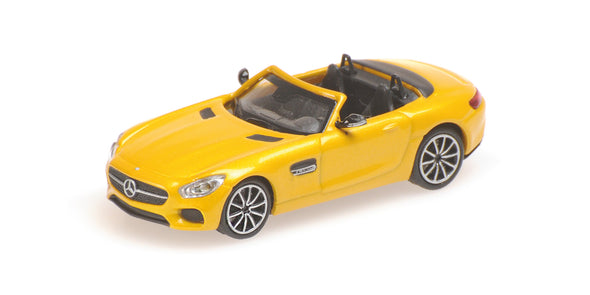 Minichamps 1/87 MERCEDES-AMG GTS CABRIOLET - 2017 - YELLOW METALLIC - 870037132