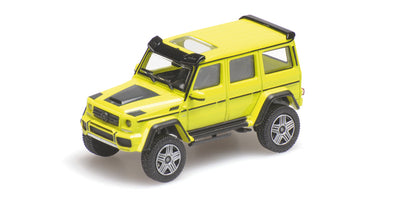 Minichamps 1/87 BRABUS 4x4² AUF BASIS MERCEDES-BENZ G 500 4x4² - 2016 - YELLOW - 870037201