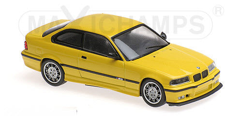 Minichamps - MAXICHAMPS 1/43 BMW M3 (E36) - 1992 - YELLOW