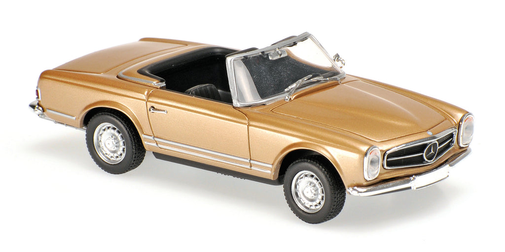 Minichamps - MAXICHAMPS 1/43 MERCEDES-BENZ 230SL - 1965 - GOLD METALLIC #940032230