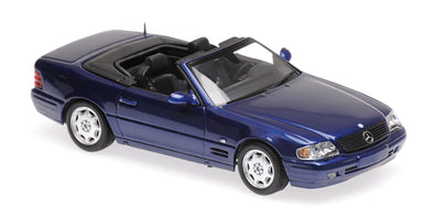 Minichamps - MAXICHAMPS 1/43 MERCEDES-BENZ SL - 1999 - BLUE METALLIC #940033030