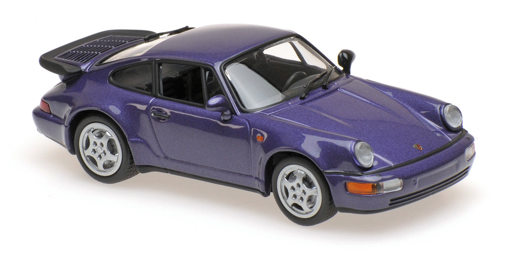 Minichamps - MAXICHAMPS 1/43 PORSCHE 911 TURBO (964) - 1990 - PURPLE METALLIC #940069100