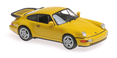 Minichamps - MAXICHAMPS 1/43 PORSCHE 911 TURBO (964) – 1990 – YELLOW #940069104