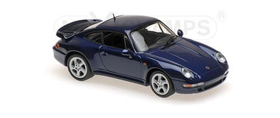 Minichamps - MAXICHAMPS 1/43 PORSCHE 911 TURBO S (993) – 1997 – BLUE METALLIC #940069201