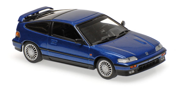 Minichamps - MAXICHAMPS 1/43 HONDA CR-X COUPÉ - 1989 - BLUE METALLIC #940161520