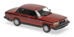 Minichamps - MAXICHAMPS 1/43 VOLVO 240 GL - 1986 - DARK RED METALLIC #940171401
