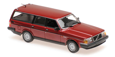 Minichamps - MAXICHAMPS 1/43 VOLVO 240 GL BREAK - 1986 - DARK RED #940171415