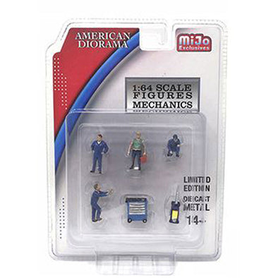 American Diorama 1/64 Mijo Exclusive Figure Mechanic Set - #AD-38400