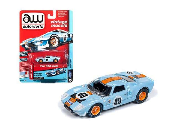 Auto World Premium 1/64 1965 Ford GT40, Gulf blue / orange