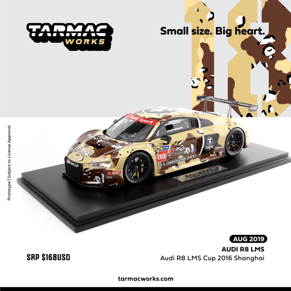 Tarmac Works 1/18 Audi R8 LMS Cup 2016  Shanghai Round AAPE by A Bathing Ape Marchy Lee -T18-004-CUP16DST
