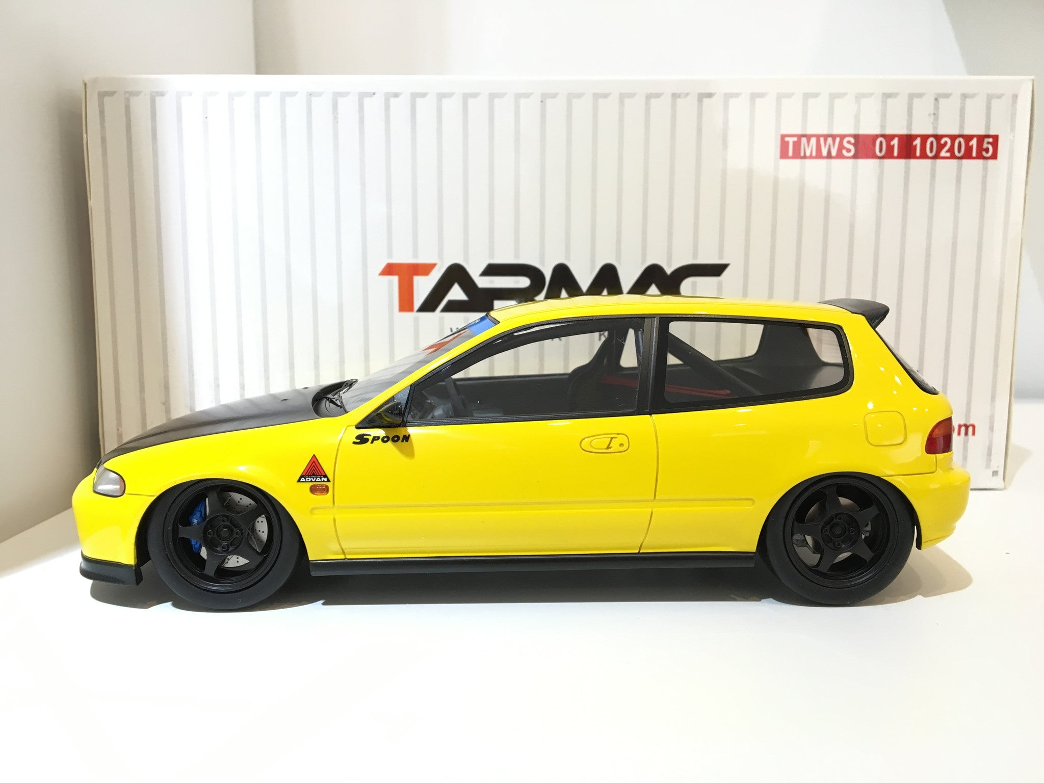 tarmac works 1 18 spoon gr a racing honda civic eg6 yellow t01 yl daboxtoys model cars dmc. Black Bedroom Furniture Sets. Home Design Ideas